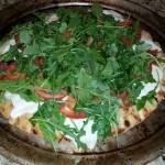 Fresh Mozzarella, Prosciutto and Arugula Pizza